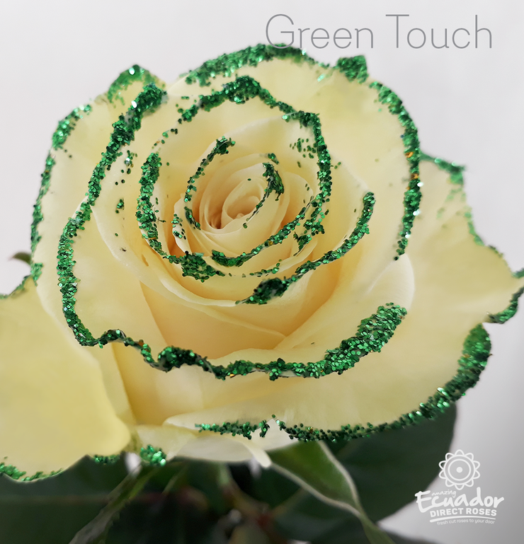 GREEN TOUCH- Glitter Rose
