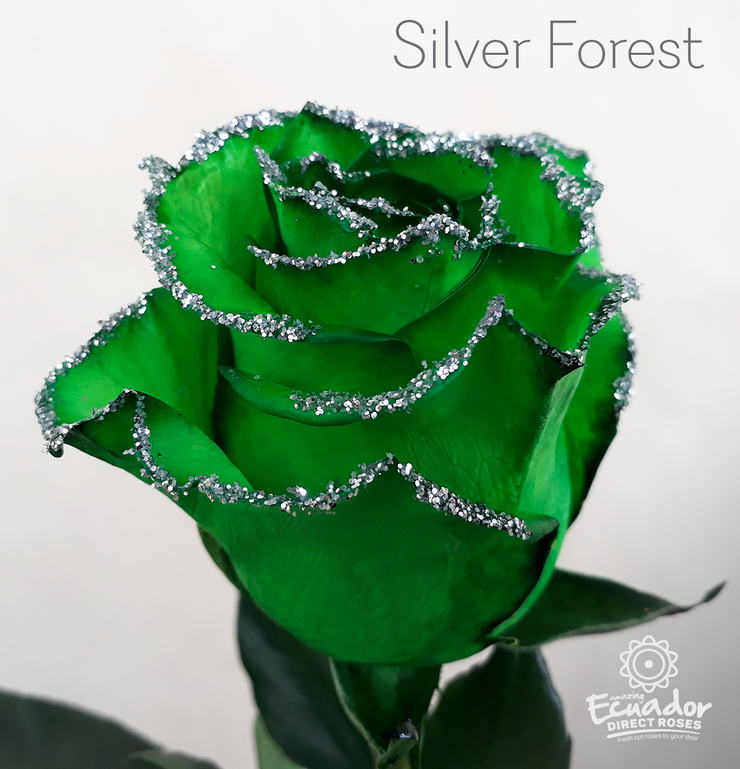 SILVER FOREST  - Glitter Rose