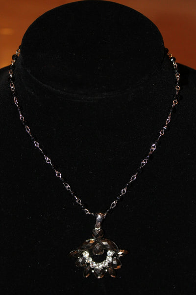 Women's Black/Grey Sparkle Necklace