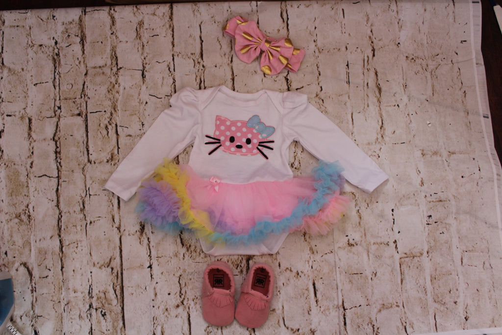 Baby long sleeve Kitty Tutu Onesie