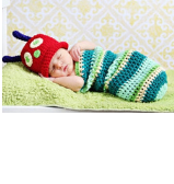 Newborn Baby Crochet Outfits: Football, turtle, Snail, Ladybug, Mouse, Caterpillar