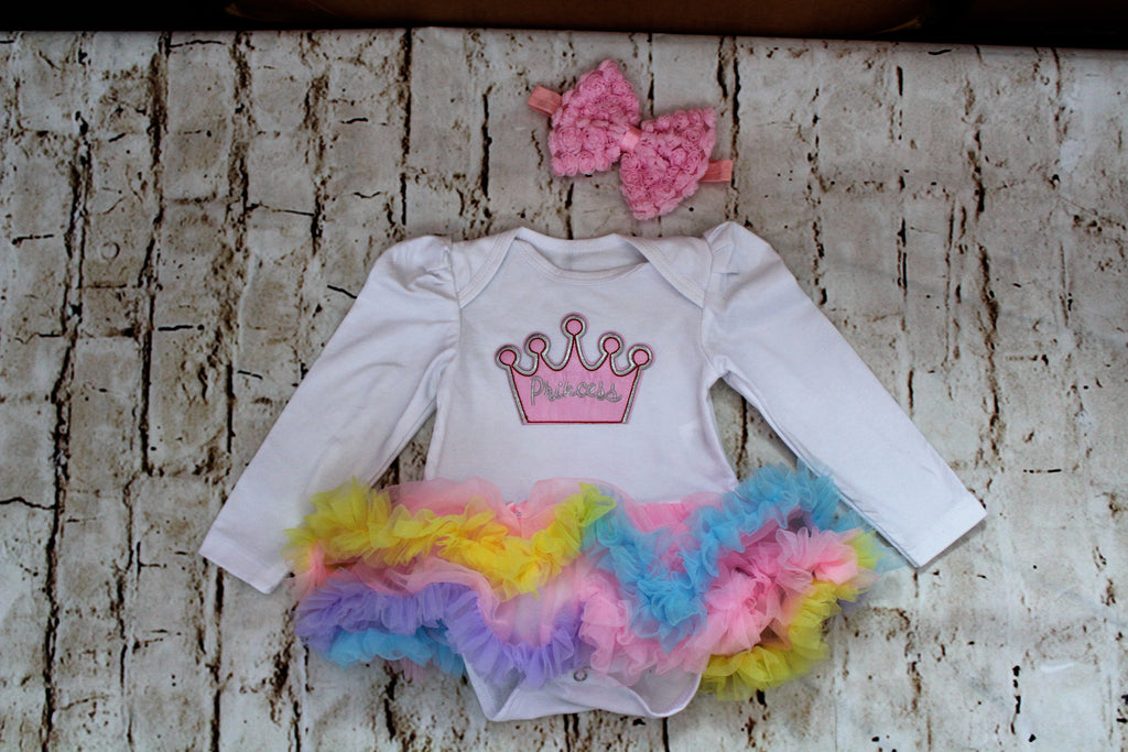 Baby Princess Longsleeve Outfit with Tutu