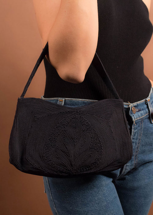 50s Black Corde Purse