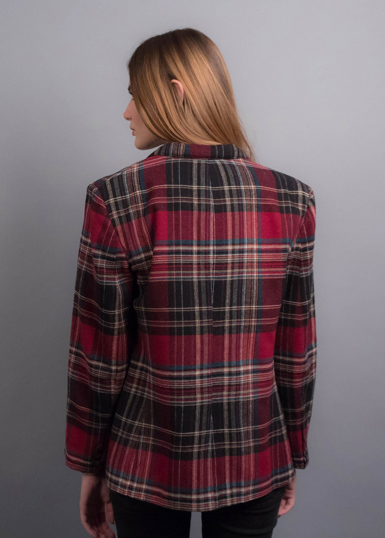 70s Plaid Blazer