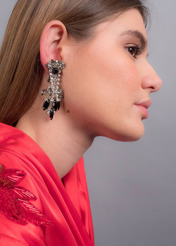 Oversized Rhinestone Statement Earrings