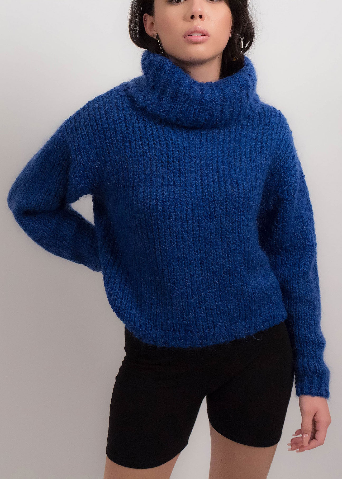 90s Cropped Mohair Sweater