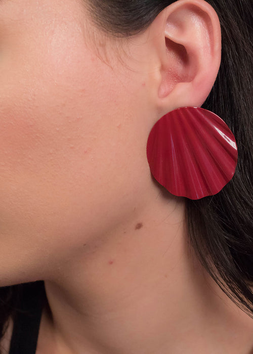 80s Oversized Oval Earrings