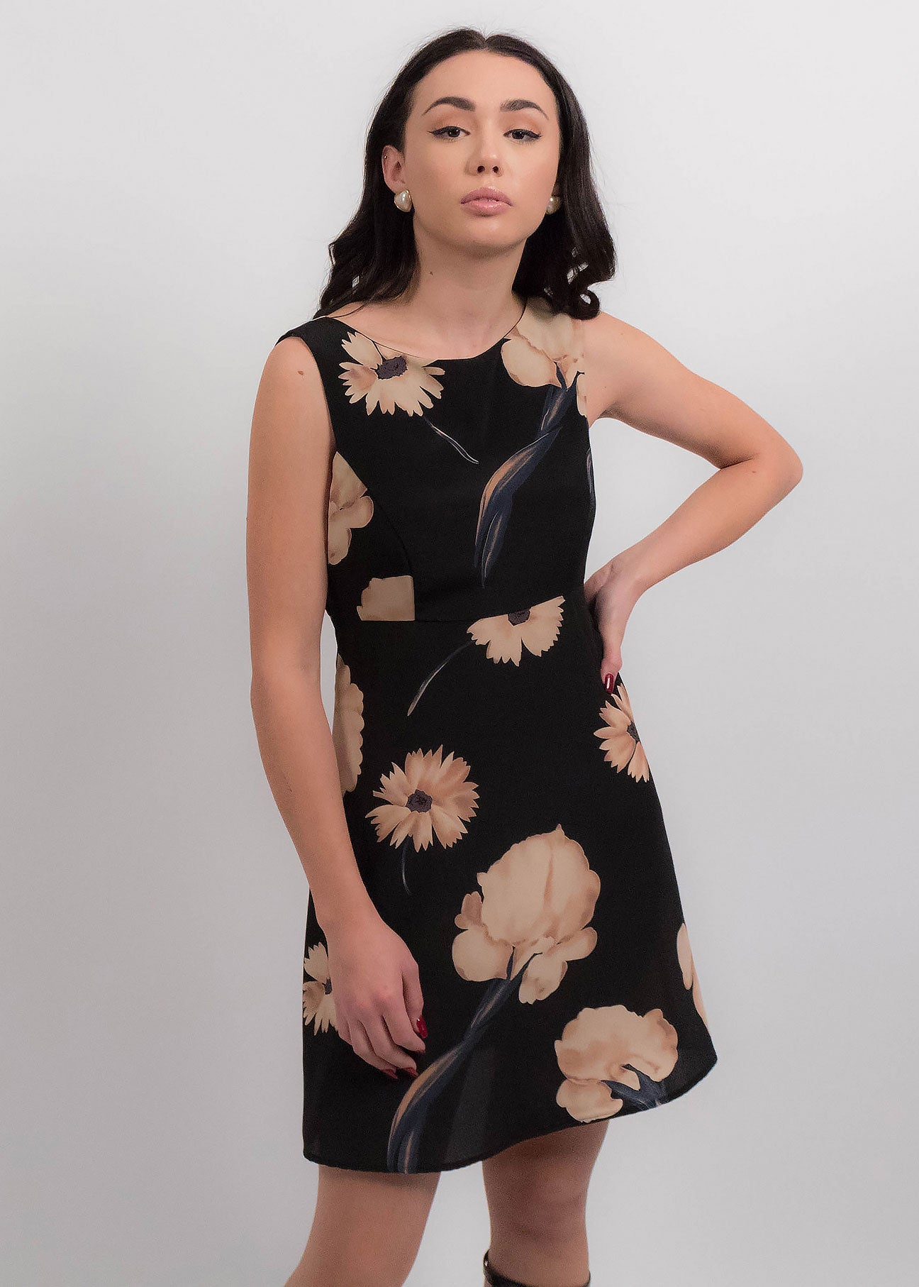90s Bold Floral Dress