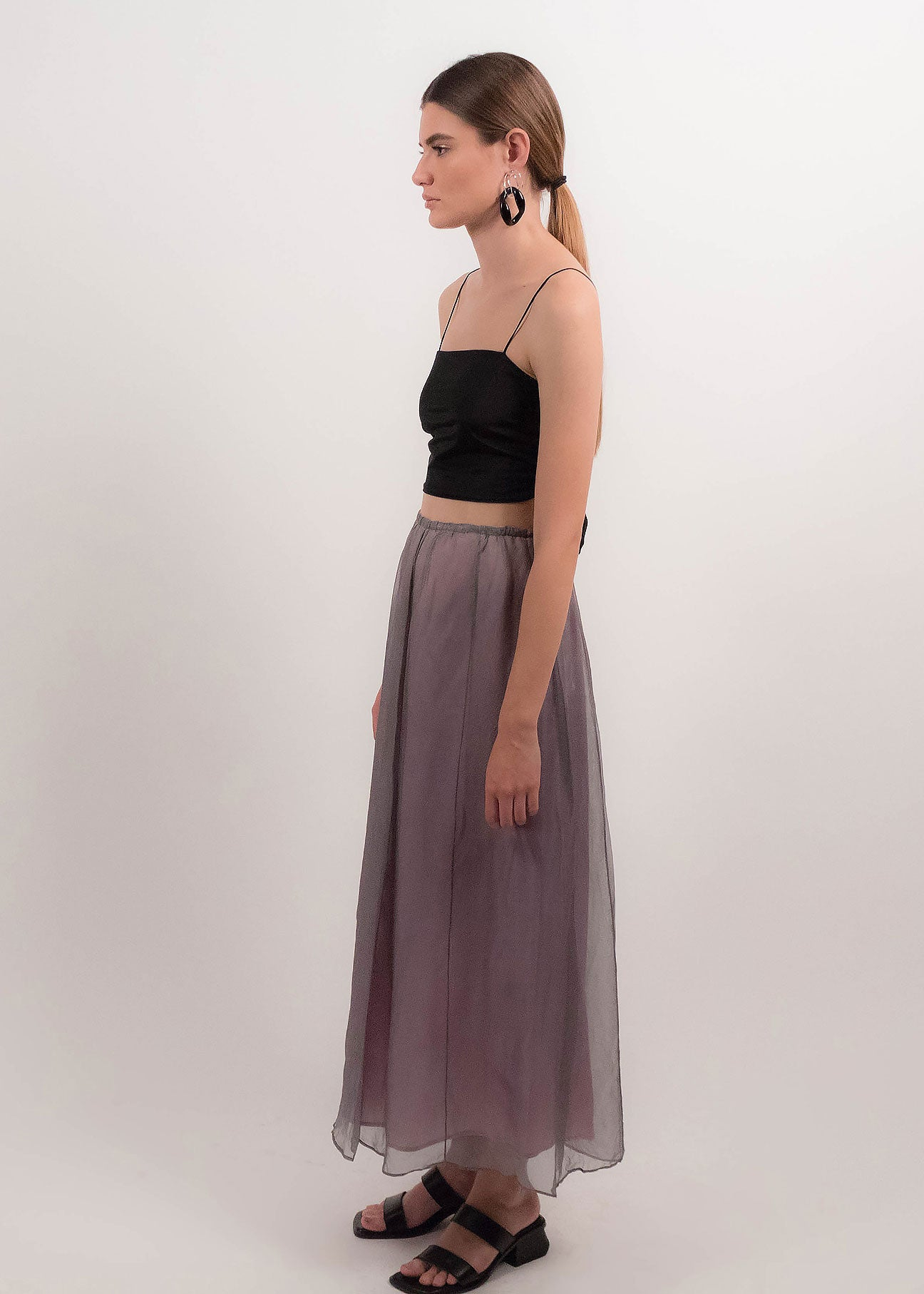 90s Silk Tulle Skirt