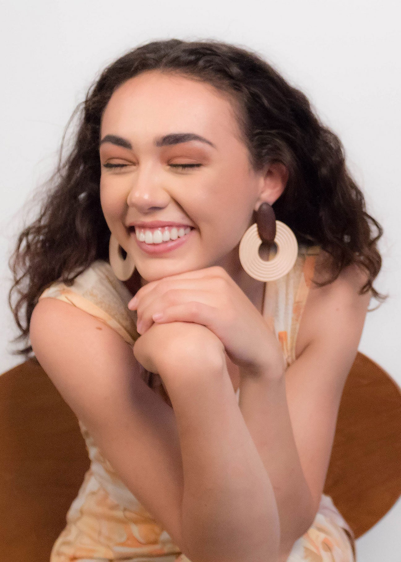 Oversized Wood Statement Earrings