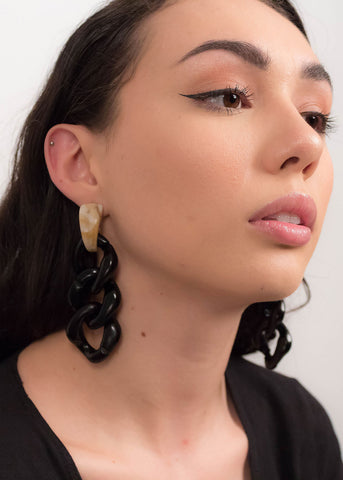 80s Gold Leaf Earrings