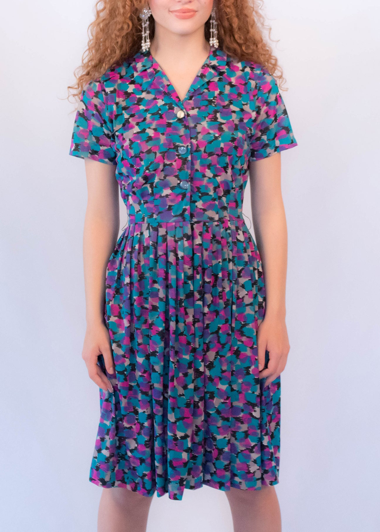 50s Abstract Shirt-Dress
