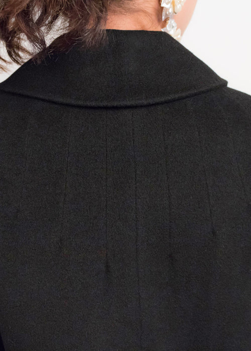 50s Black Cashmere Coat