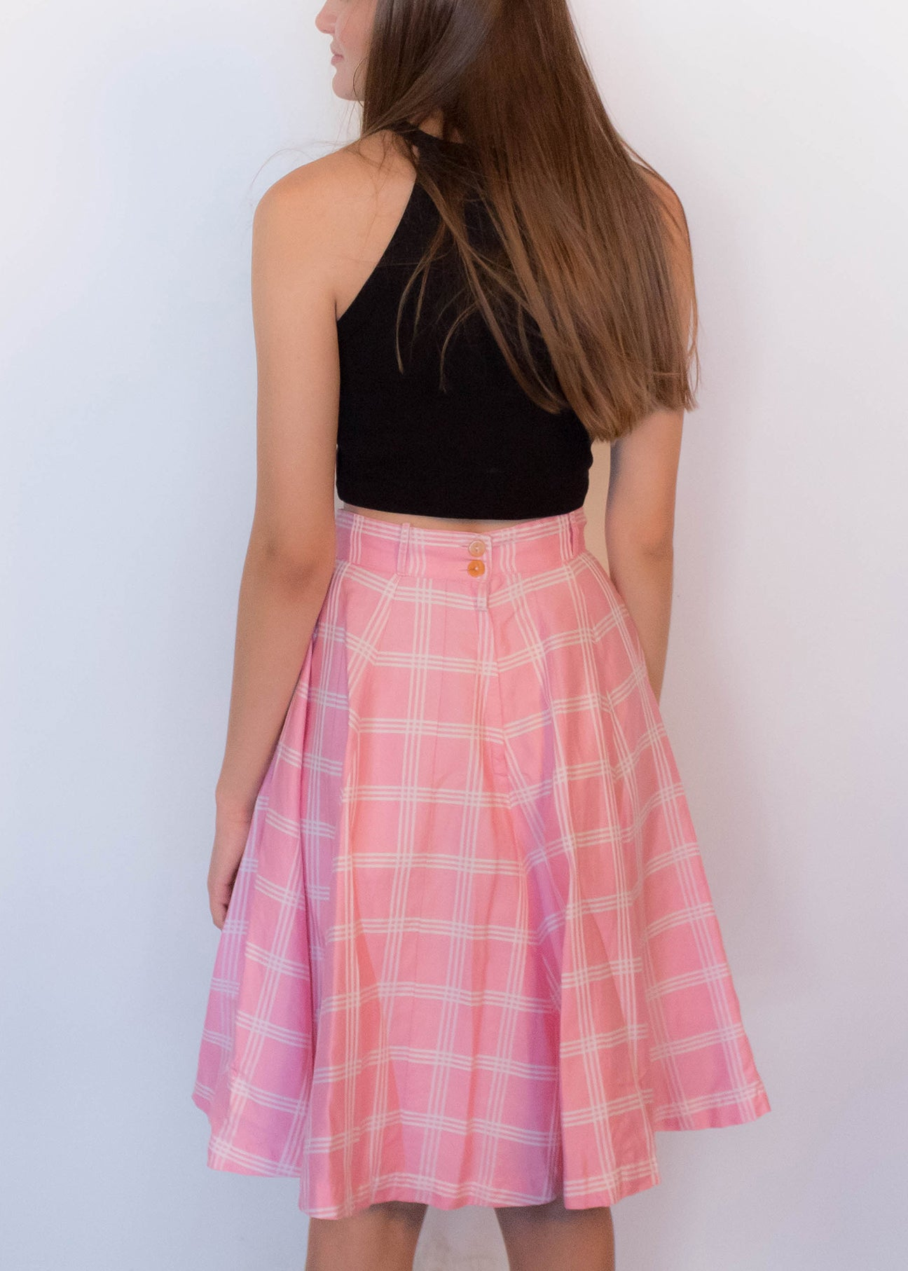 50s Plaid Circle Skirt
