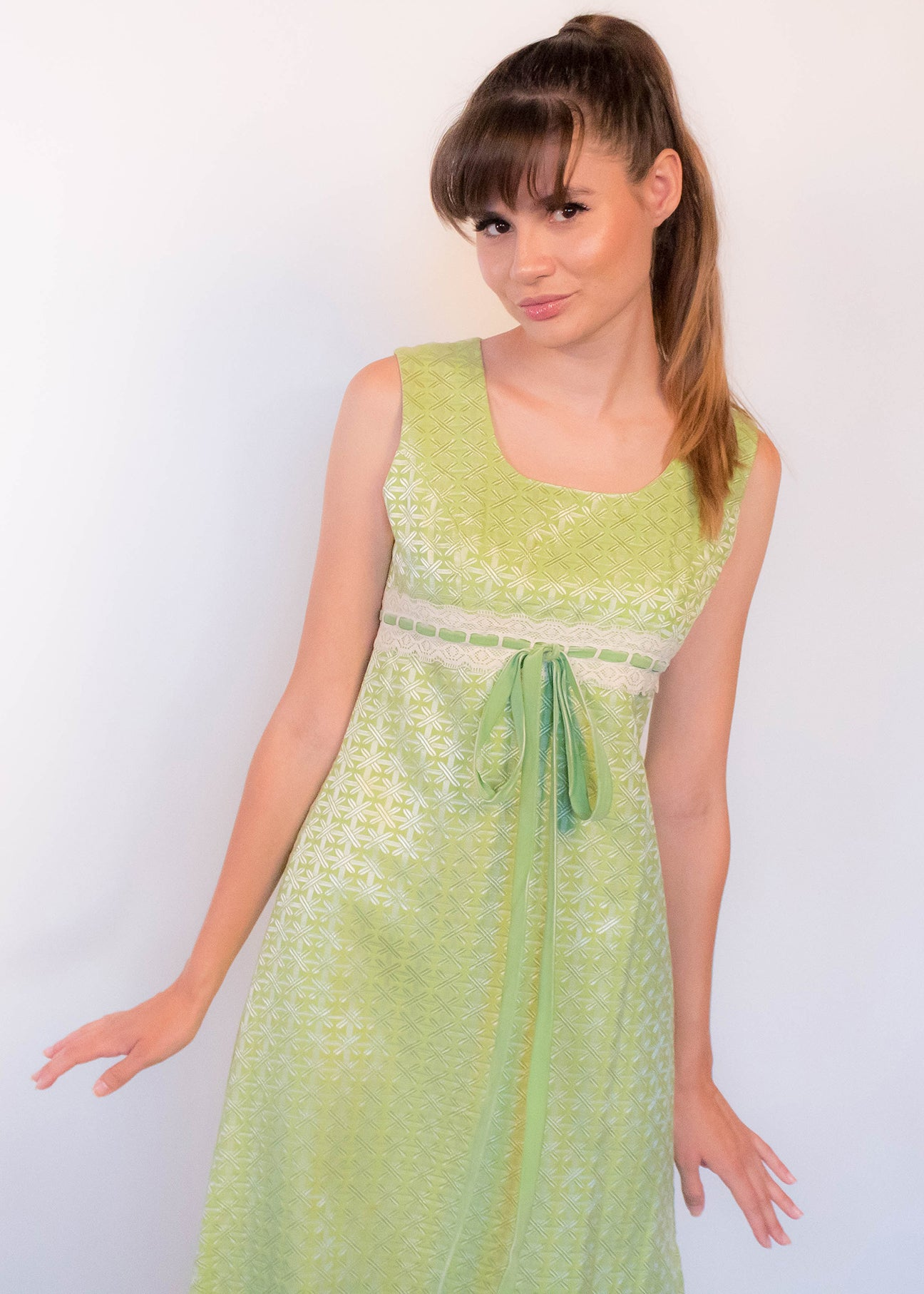 60s Mod Abstract Brocade Dress