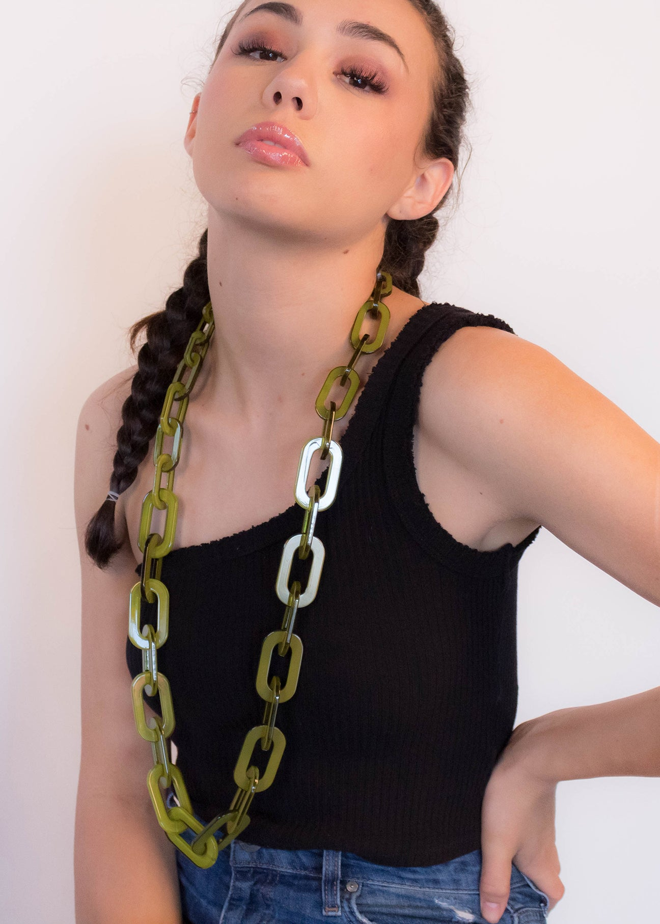 60s Lucite Chain-Link Necklace