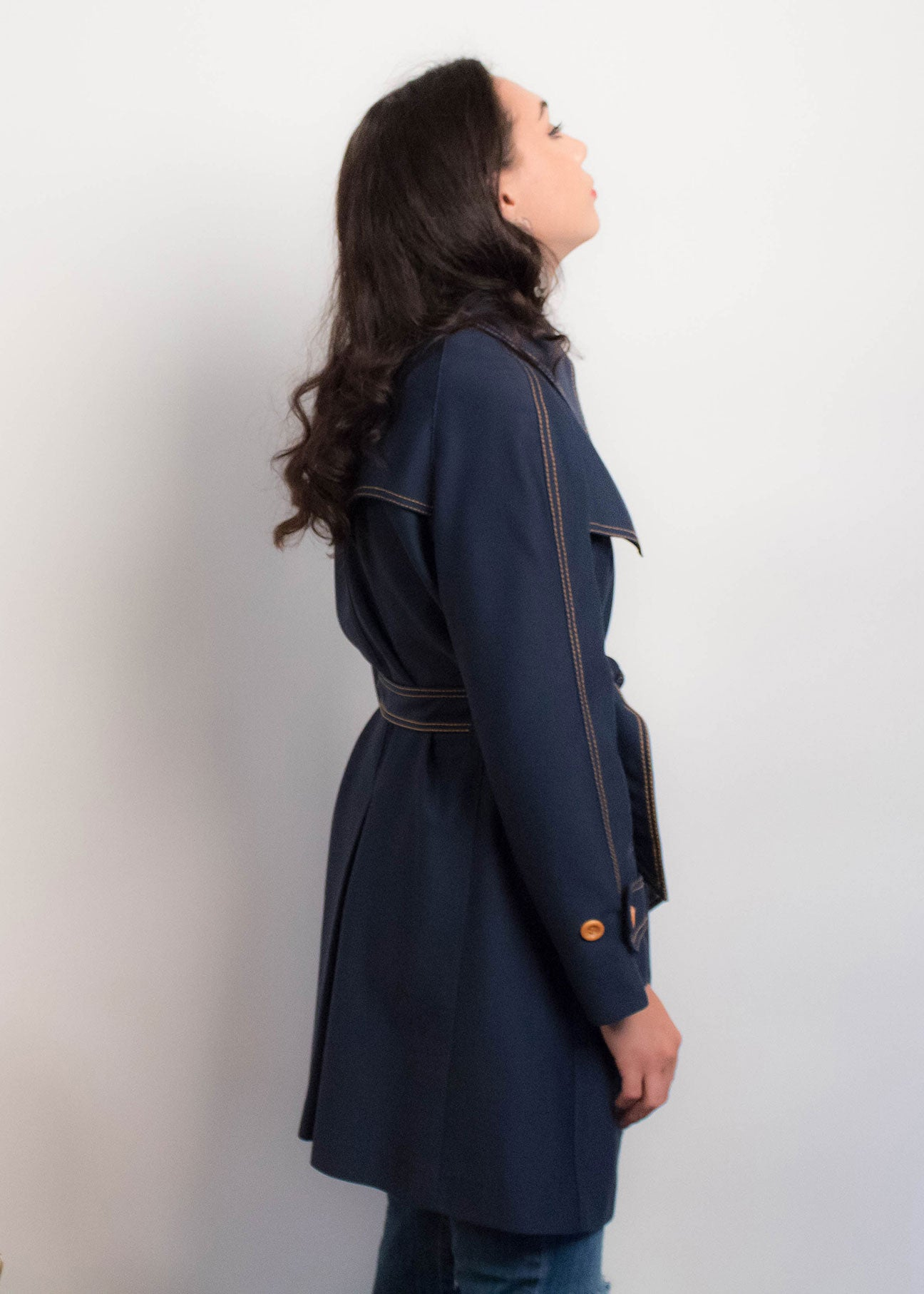 60s Knit Nautical Mod Coat