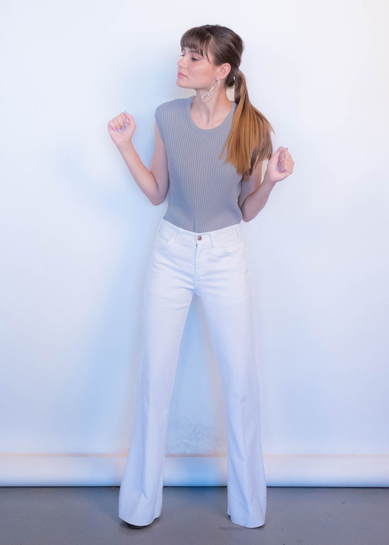 60s Ribbed Minimal Top