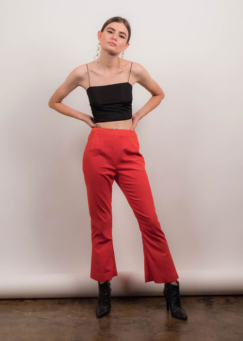 60s Velvet Bell Bottoms