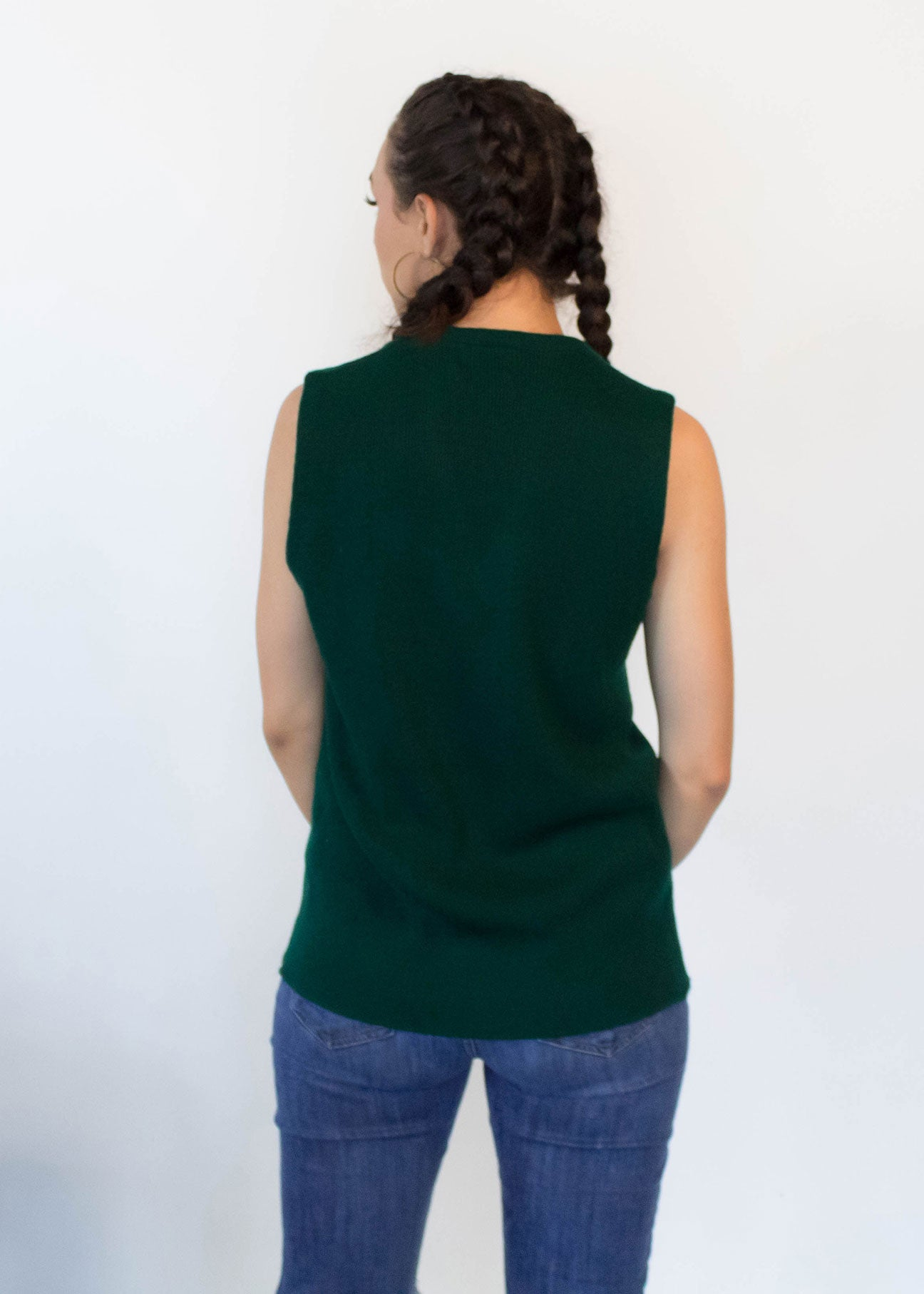 60s Forest Green Knit Vest