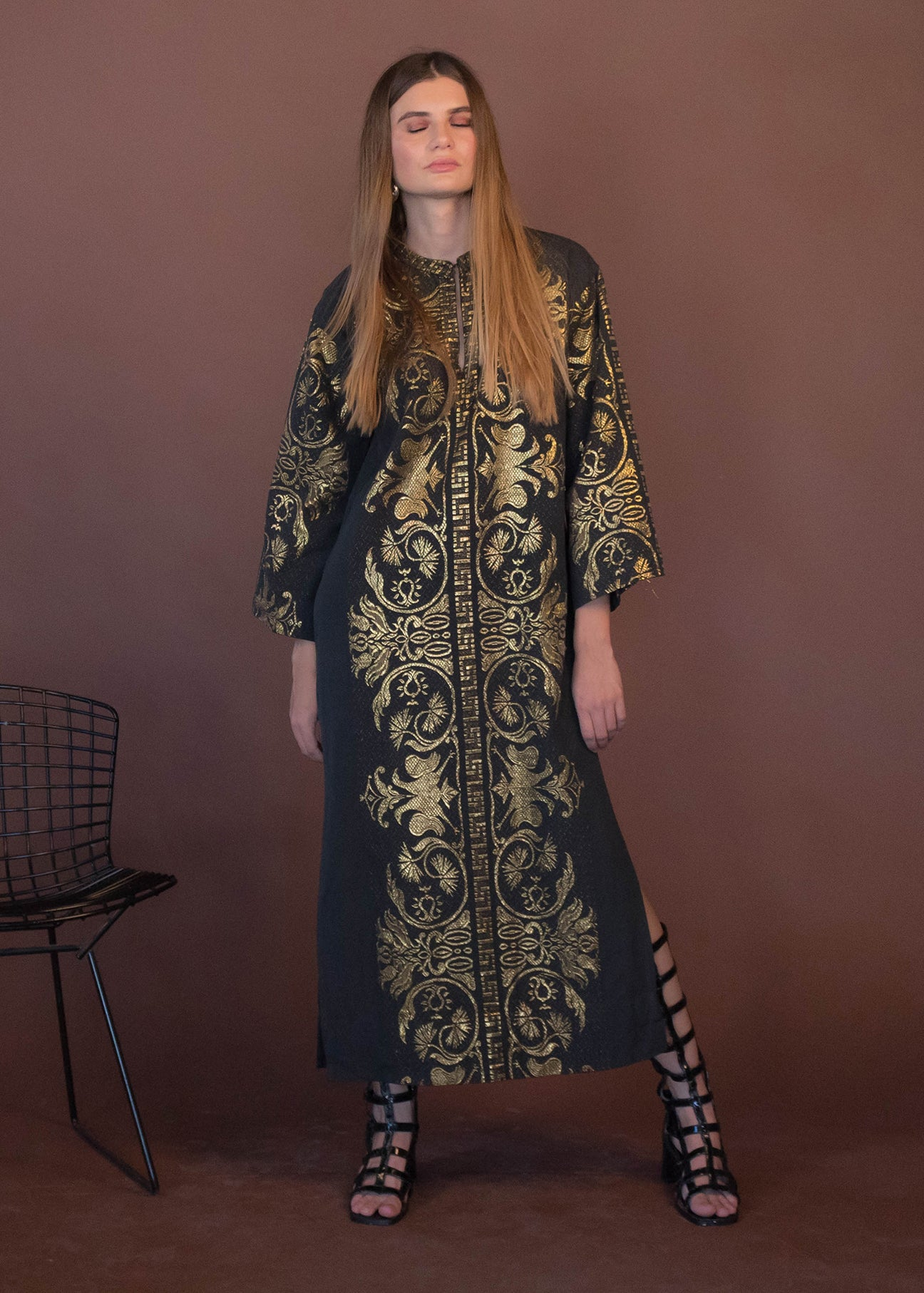 60s Embroidered Bohemian Caftan