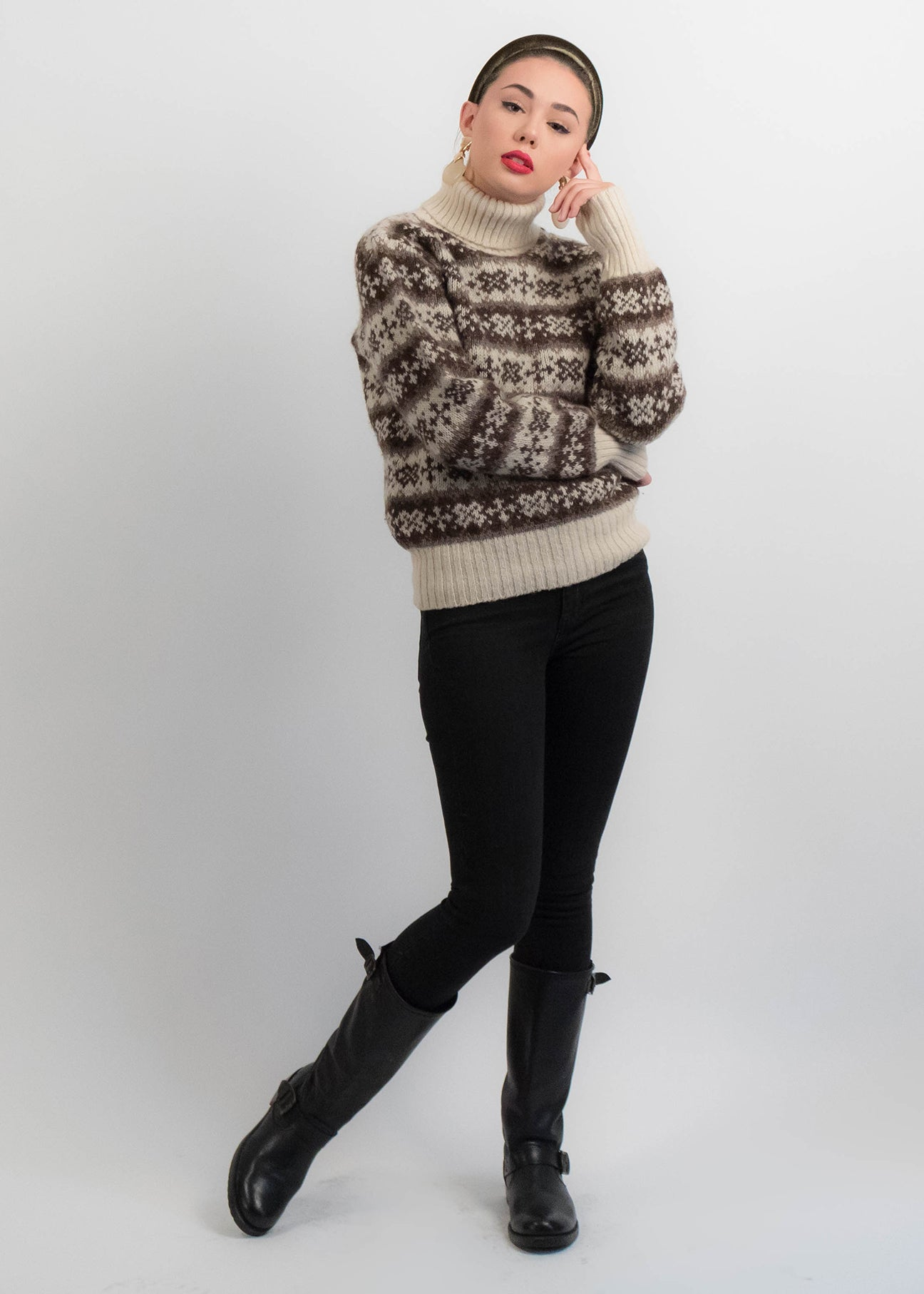 60s Nordic Turtleneck Sweater