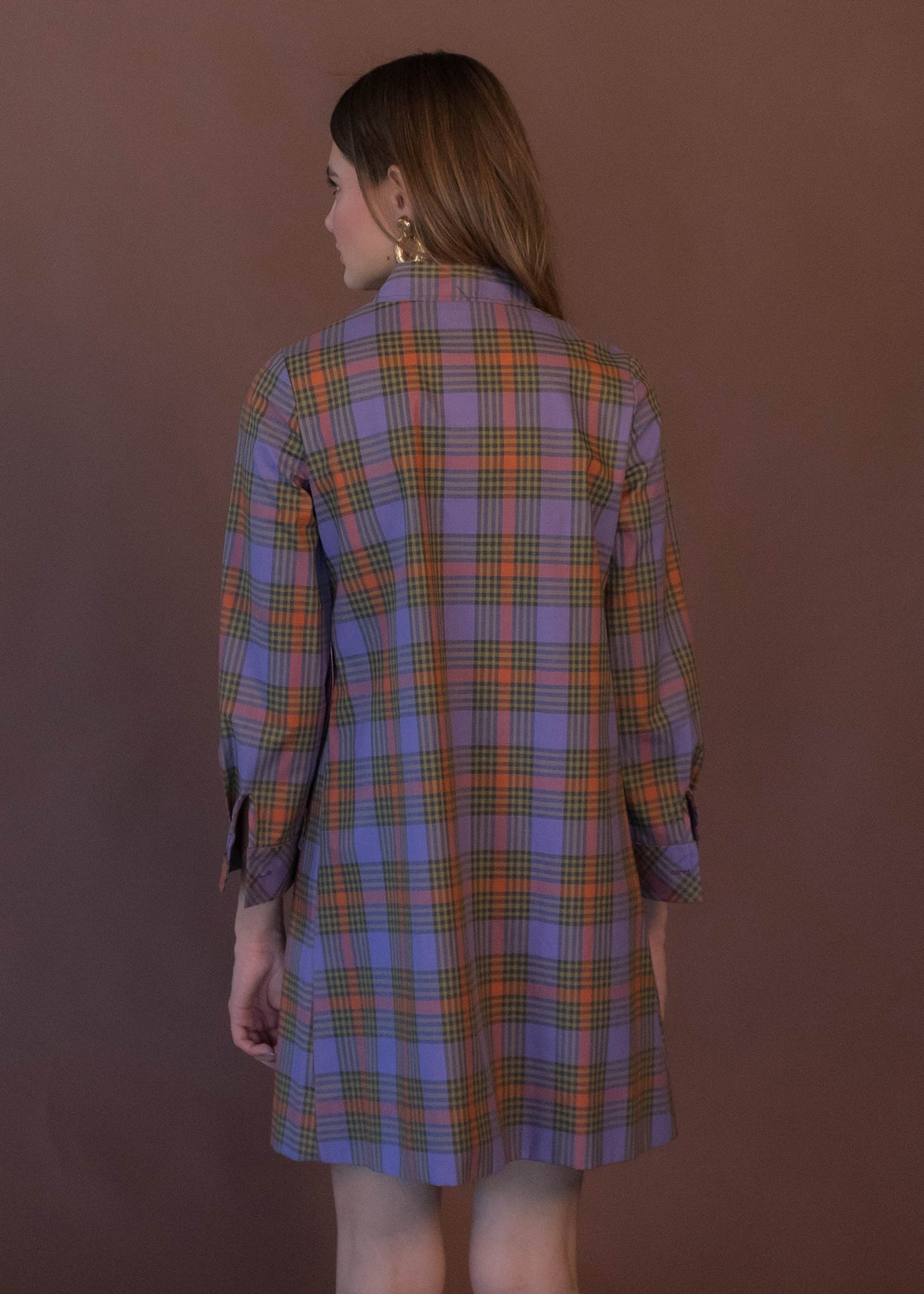 60s Plaid Shift Dress
