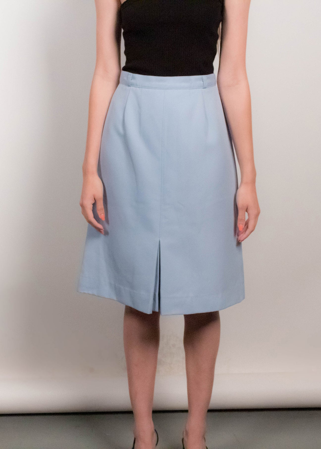 70s High-Waisted A-line Skirt