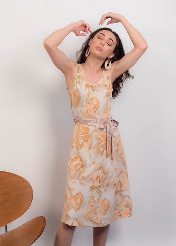 70s Metallic Sheer Dress