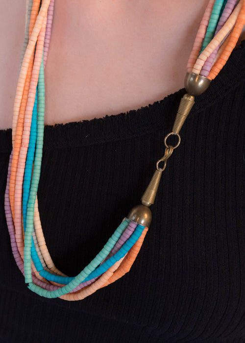 70s Multi-Strand Beaded Necklace