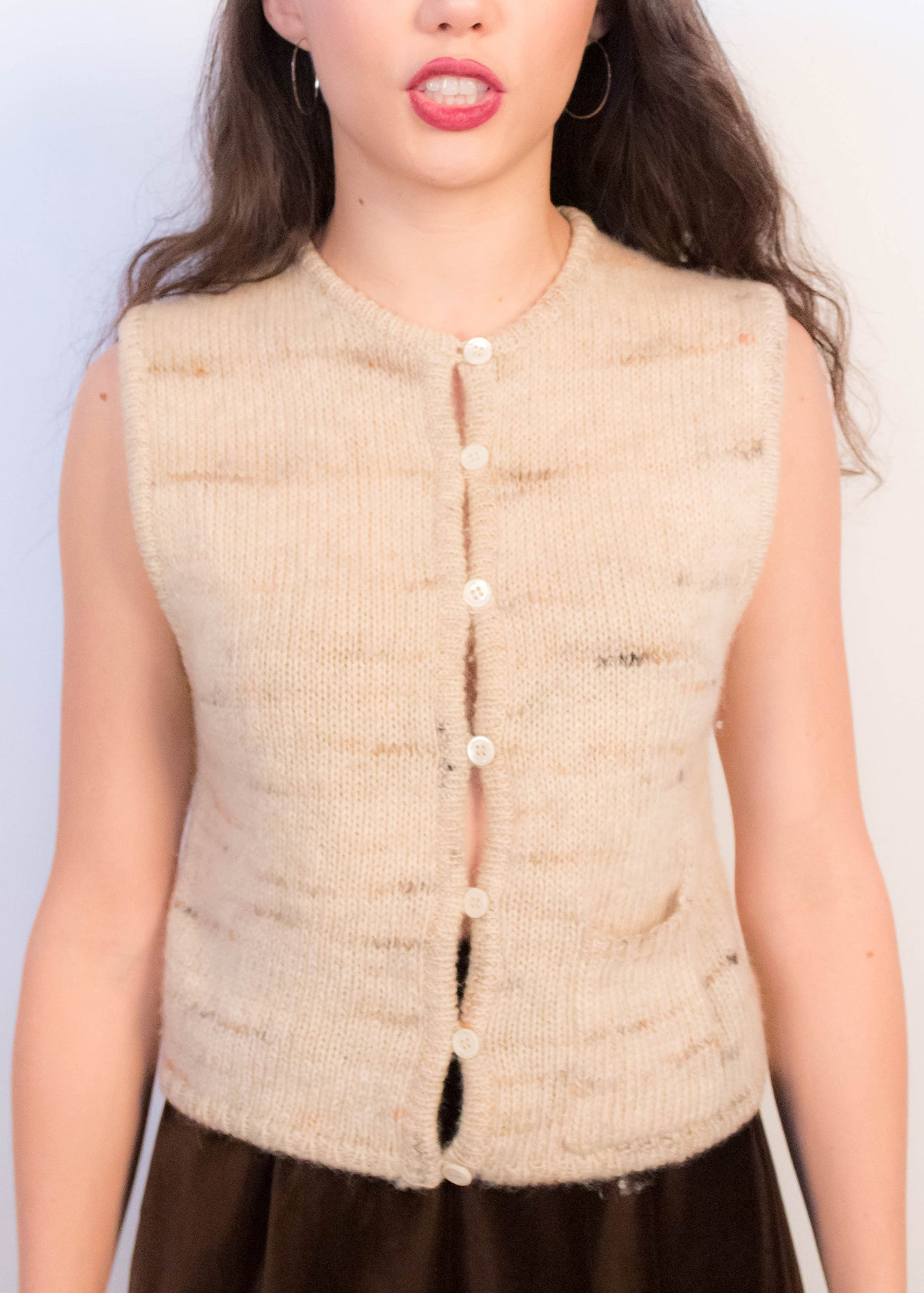 70s Boho Wool Sweater-Vest