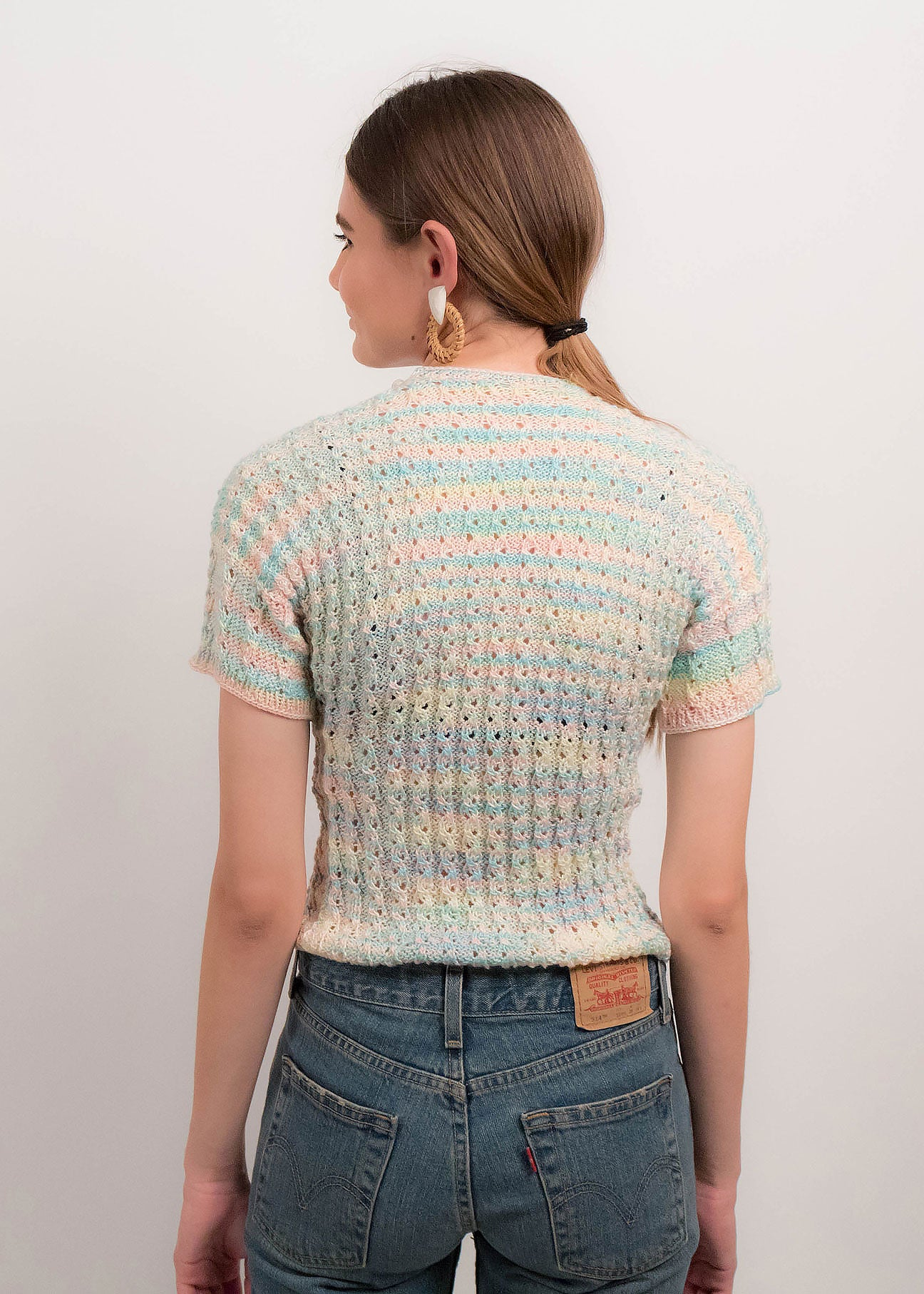 70s Hand Knit Crochet Top