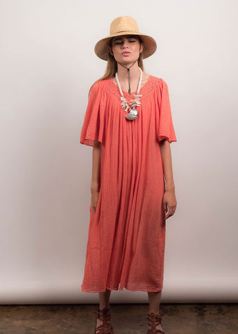 70s Indian Gauzy Cotton Dress