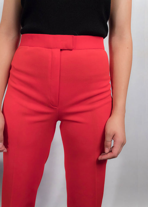 70s Wide-Leg Red Trousers