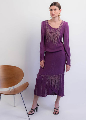 70s Crochet Gauzy Dress