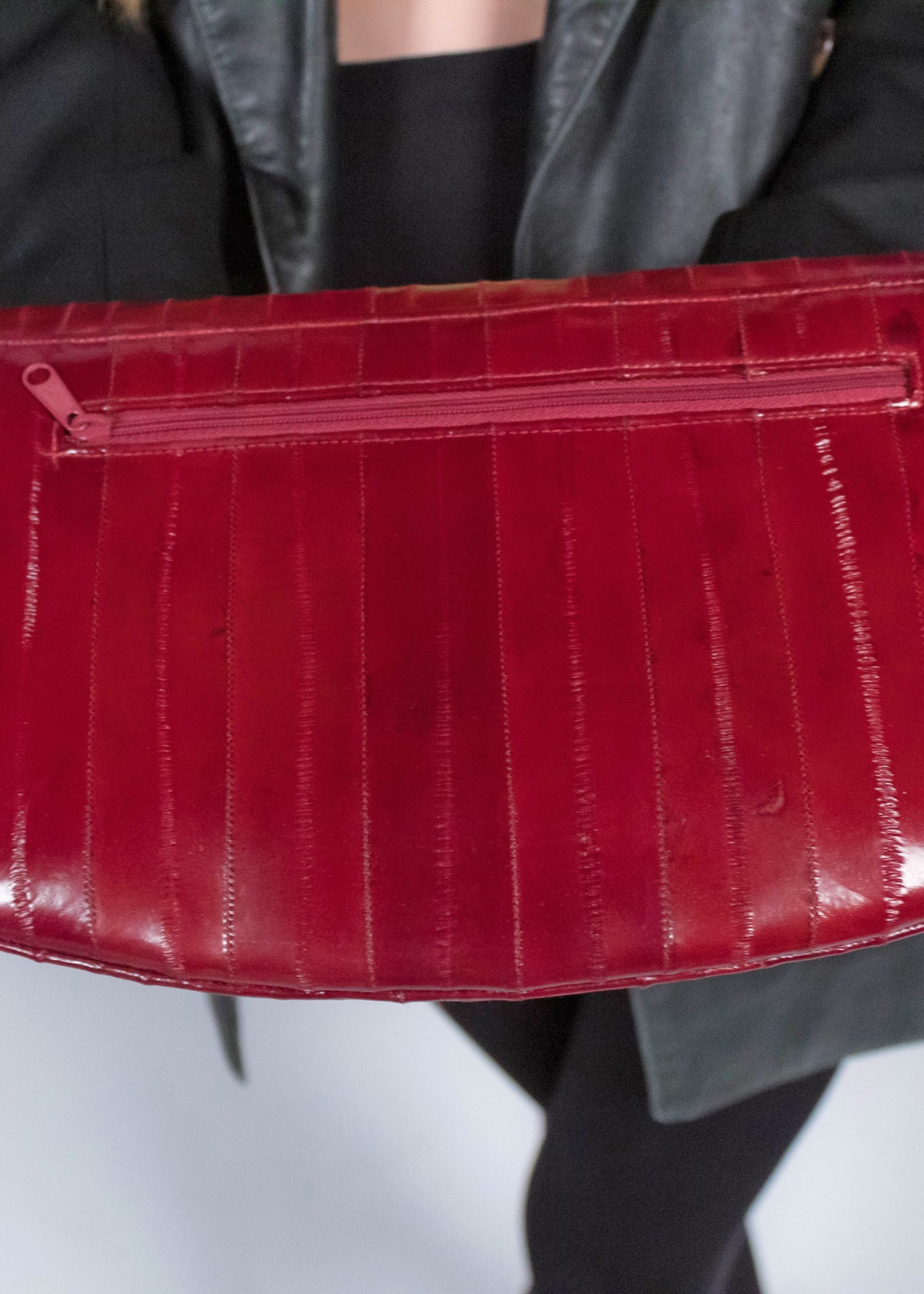 70s Leather Eel Clutch