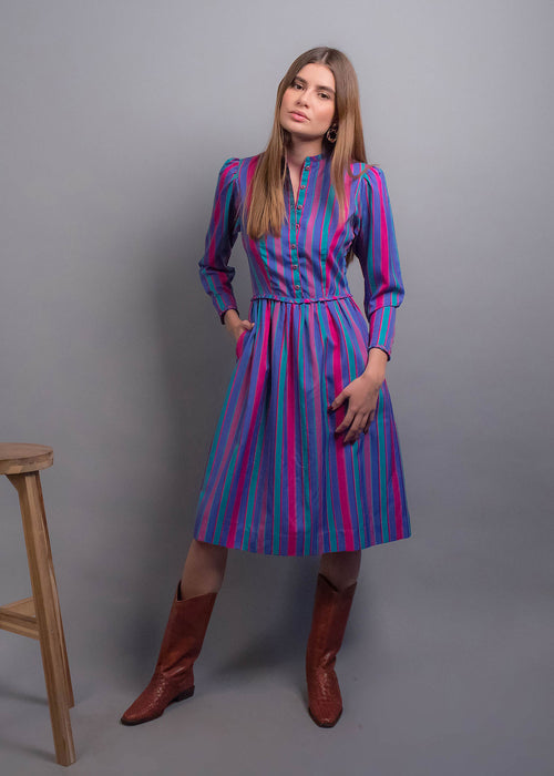 70s Lanz Originals Peplum Dress