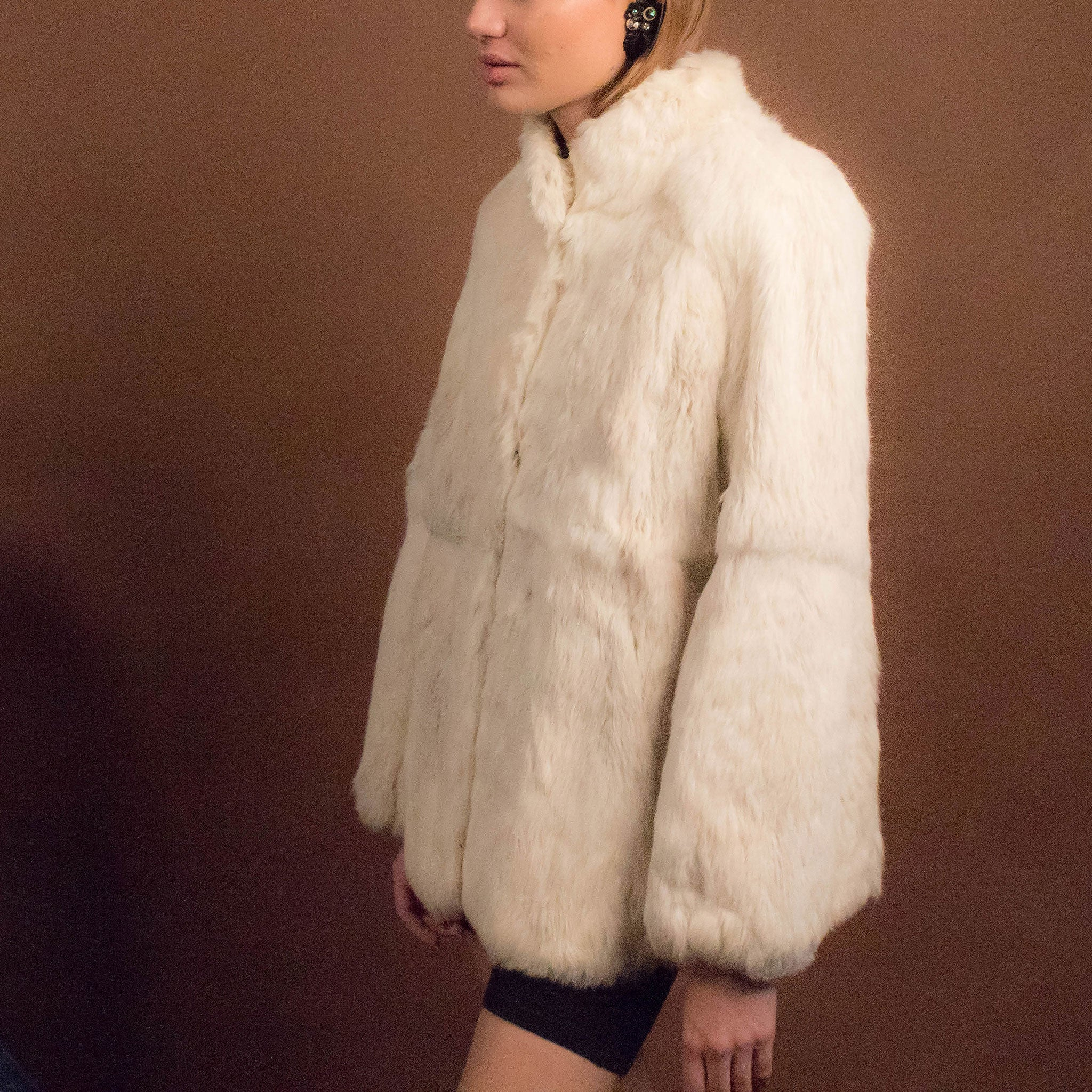 70s Chubby Rabbit Fur Coat