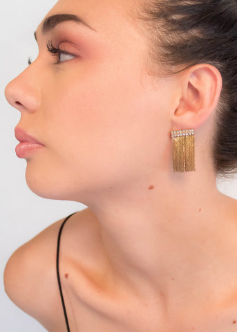 80s Geometric Sculptural Earrings