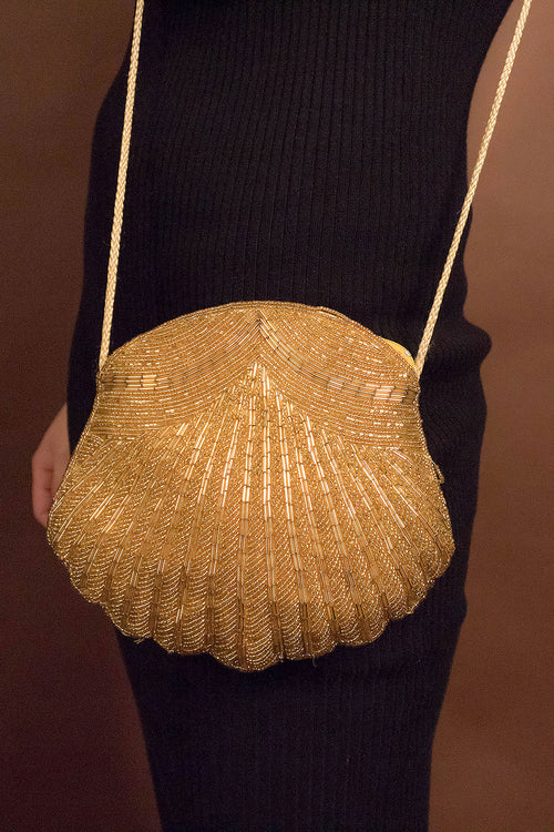 70s Sequins Clamshell Purse