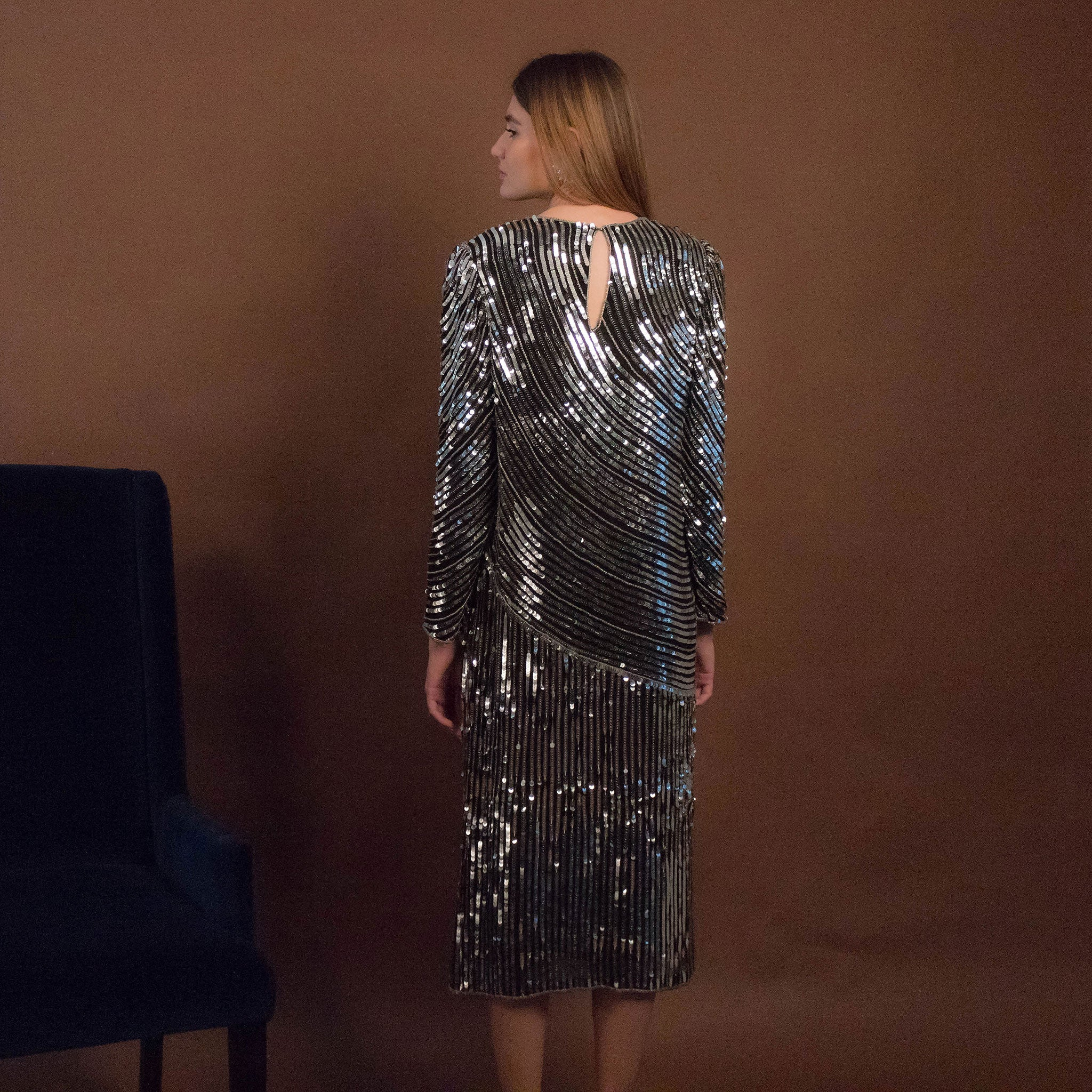 70s Judith Ann Sequins Dress