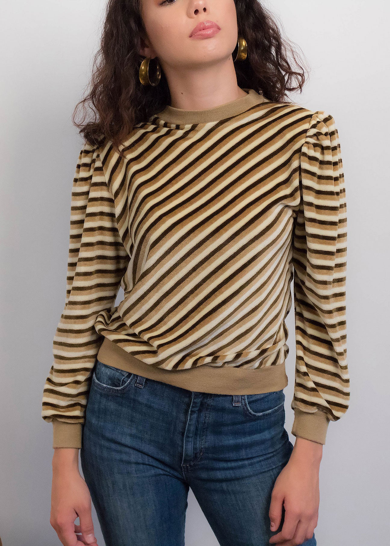 70s Velvet Chevron Top