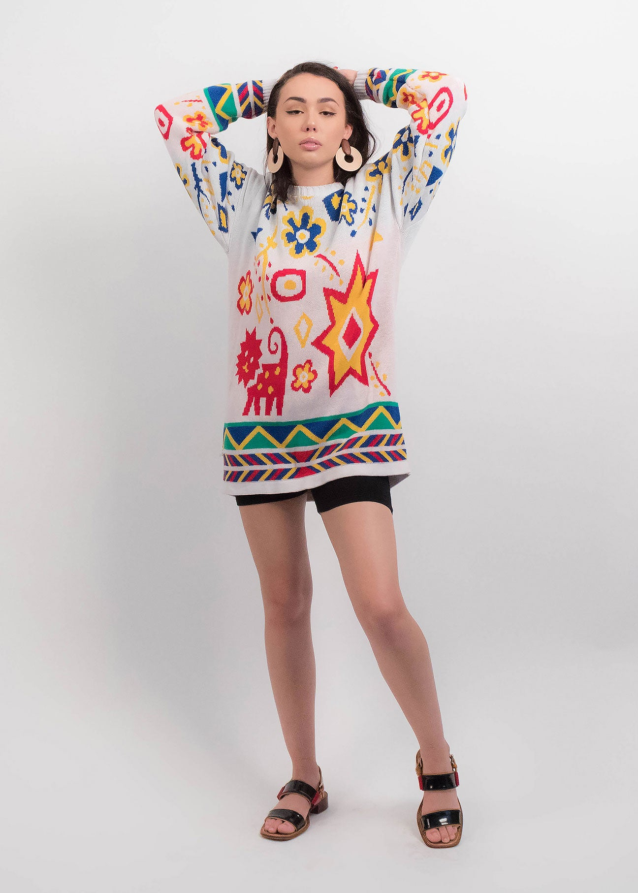 80s Abstract Tribal Sweater