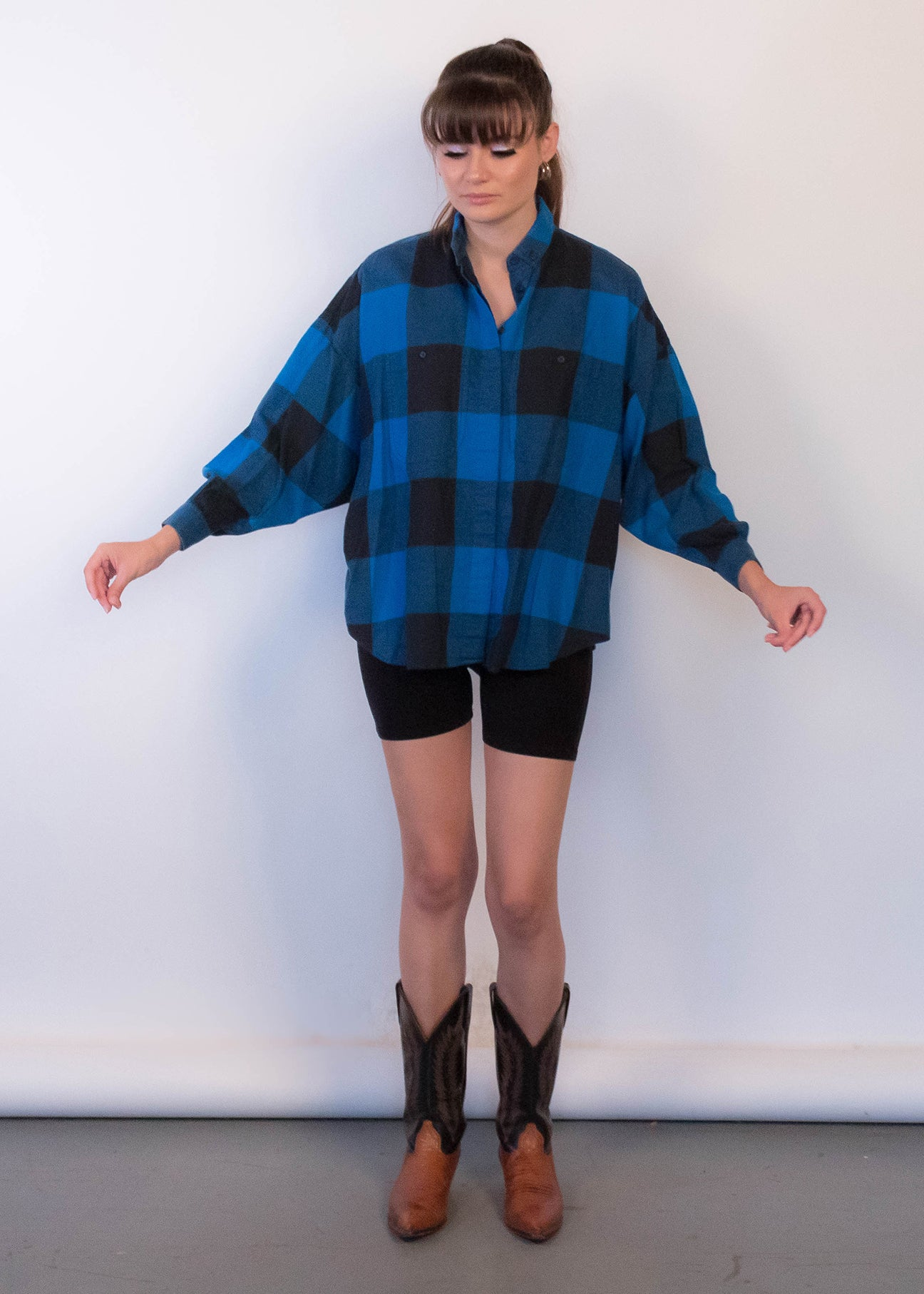 90s Buffalo-Plaid Flannel Shirt