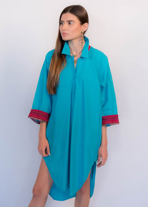 80s Guatemalan Shirt Dress