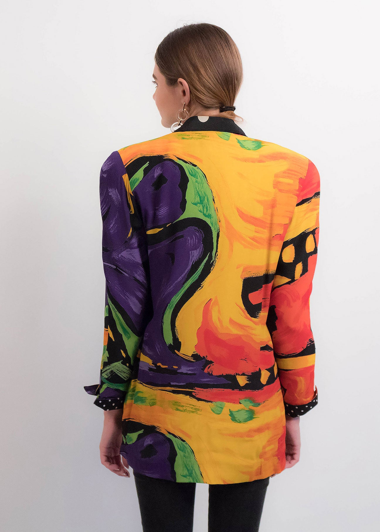 80s Oversized Abstract Blazer
