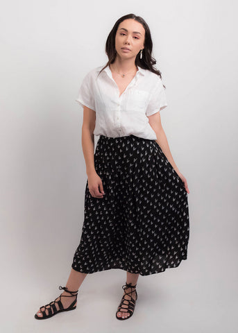 80s High-Waisted Crepe Black Trousers