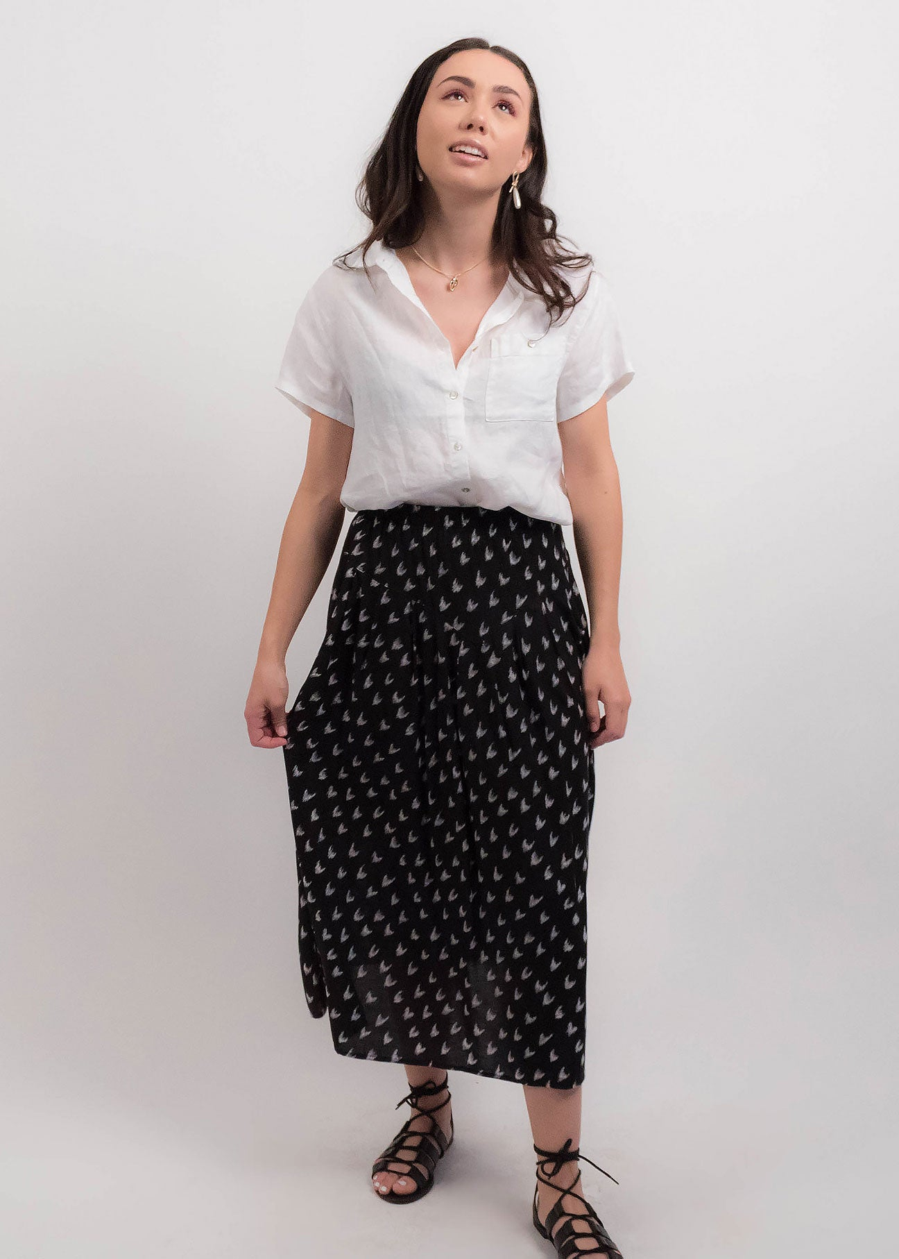 80s Abstract Southwestern Skirt
