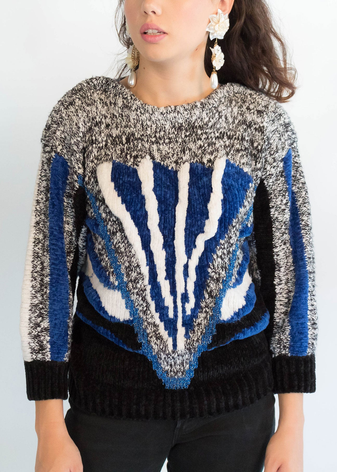 80s Chunky Abstract Sweater