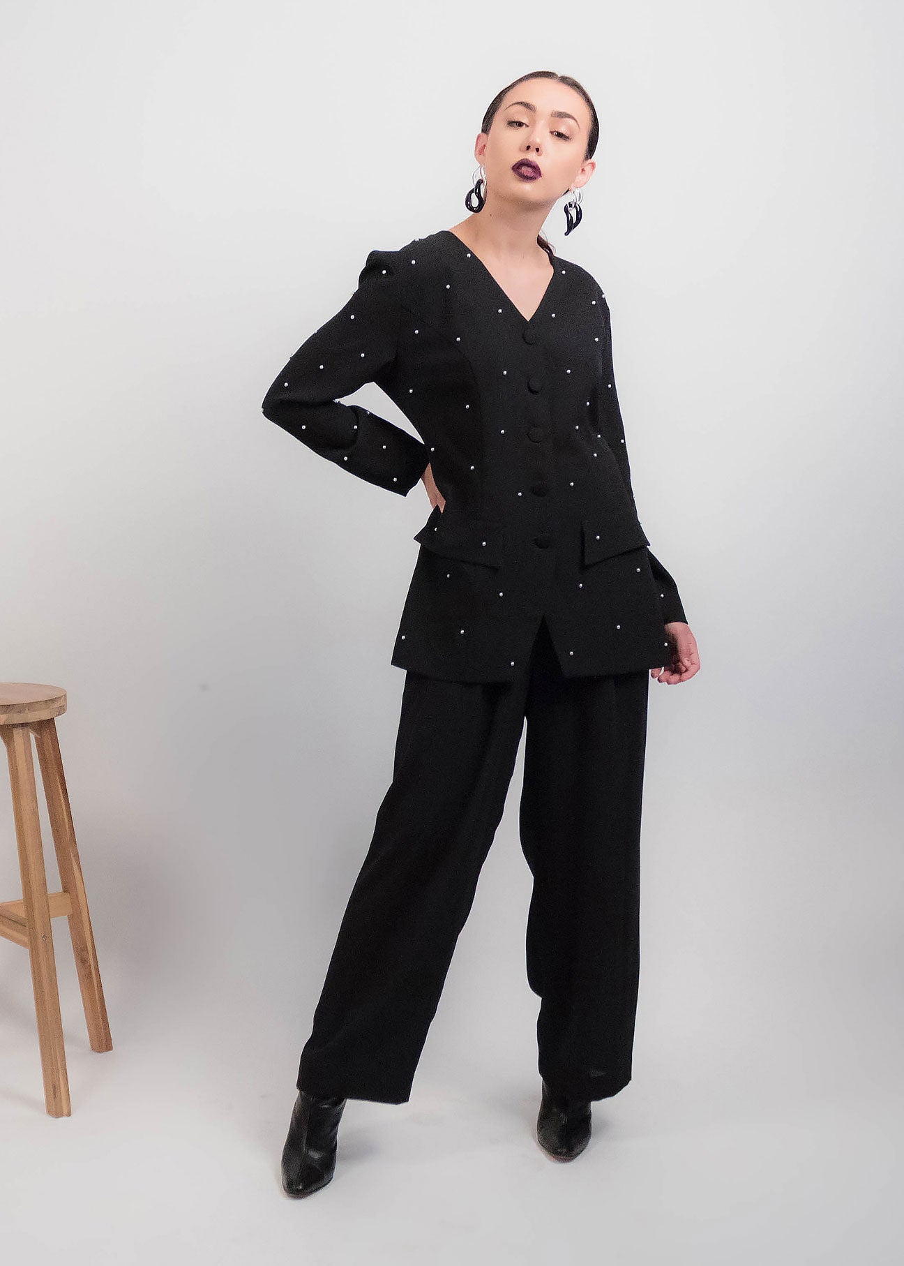 80s Beaded Pearl Jumpsuit